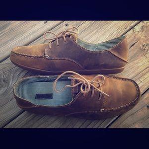 Olu Kai Heleuma leather tie loafer size 8.5